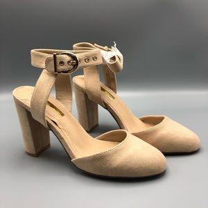 Closed toe chunky heels